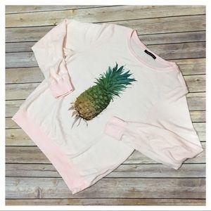 NWOT Wildfox Pineapple Jumper - Pink